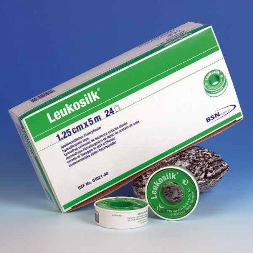 Leukosilk BSN ohne Schutzring 2,50 cm x 5 m rollenpflaster rollenpflaster selbsthaftend pflaster rolle fixierpflaster fixierpflaster sensitive