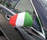 Spiegelflagge/Spiegelfahne ITALIEN 1 Paar, Auto/PKW Rückspiegel/Autospiegel Fahne/Flagge/Überzug