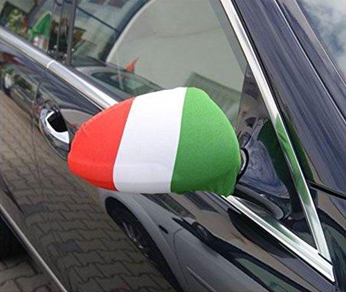 Unbekannt Spiegelflagge/Spiegelfahne Italien 1 Paar, Auto/PKW Rückspiegel/Autospiegel Fahne/Flagge/Überzug