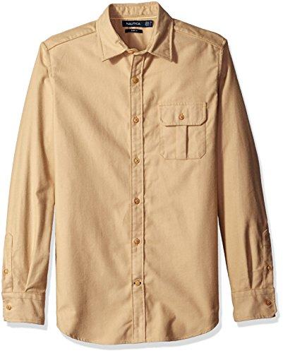 Nautica Herren Button-down-Hemd Gr. XL (US Größe), Sandy Bar