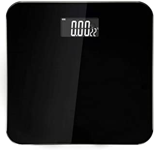 BTYAY Human Scale,Digital Body Weight Bathroom Scale and Round Corner Design, Large Backlight Display, High Precision Measurements (Color : Black)