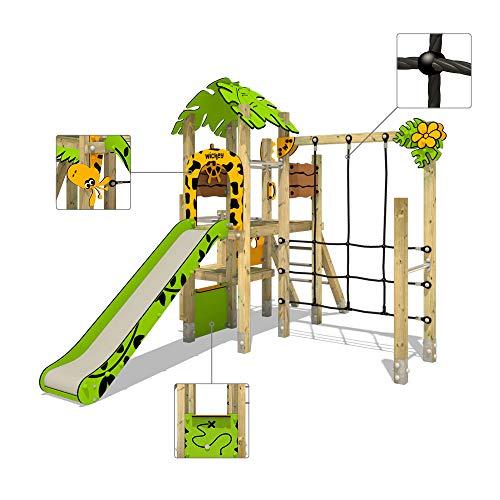 Klettergerüst WICKEY PRO MAGIC Tour+ für den öffentlichen Gebrauch - Entwickelt nach DIN EN 1176 - Kletterturm mit Rutsche für Kindergarten, Schule, Hotel, Restaurant, Ferienpark & Campingplatz - 7
