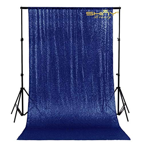ShinyBeauty PHOTOBOOTH Background Best Choice-4FTx7FT-Sequin backdrops, Sequin Fabric,Wedding backdrops,Rust Backdrop,Sequin Curtains,Photography Backdrop (Buy it Now) (4FTx7FT, Navy Blue)