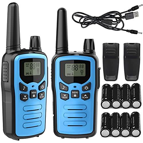 トランシーバー 無線機 免許不要 特定小電力 充電式 簡単操作 災害・地震 緊急対応 1100mAH リチウムイオンバッテリー・USB充電ケーブル・ベルトクリップ付属 2台セット