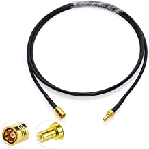 Eightwood Satellite Radio Antenna Adapter SMB Male to SMB Female Extension Cable 3 feet Compatible with Sirius XM Car Vehicle Radio Stereo Receiver Tuner
