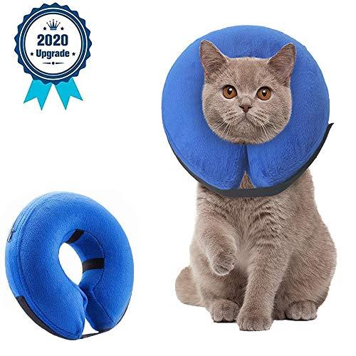 Supet Halskrause Hund Schützender Aufblasbarer Hundekragen Schutzkragen Krägen für Haustiere Einstellbar Bequem Schutzkragen mit Klettverschluss