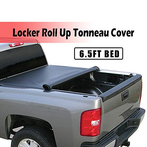 T YONG TONG Soft Roll Up Truck Bed Tonneau Cover for 2005-2011 Dodge Dakota Quad Cab 6.5FT Bed Without Utility Track/2006-2008 Mitsubishi Raider 6.5FT Bed, Tear Resistance and Water Resistance