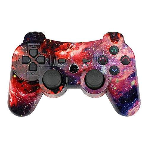 PS3 Controller Wireless Double Shock Gamepad für Playstation 3 Remote, 6-Achsen Wireless PS3 Controller mit Ladekabel