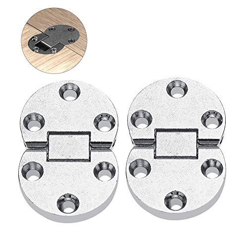 2 Unids Bisagras para armarios, 54x35x7mm Aleación de Zinc Table Aleta Bisagras Mini Bisagra Autoportante Muebles Para El Hogar Oval Hardware Escritorio Plegable de mesa