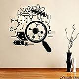 Química Científico Pegatinas de arte Wallpaper Adolescentes Dormitorio Extraíble Decoración para el hogar Ciencia Vinilo Tatuajes de pared Decoración de laboratorio Mural 56X63CM