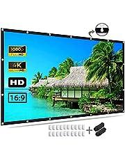 شاشة العرض 121.9 بوصة، شاشة عرض لفيلم 4K 16: 9 HD قابلة للطي والجوال في الهواء الطلق في المنزل ، الحفلات ، المكتب ، الفصل الدراسي