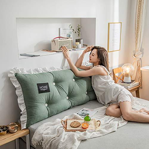 Cojín para mesita de noche, de algodón lavado, se puede utilizar para sofá de noche, ventana, tatami, coche, oficina, 1,200 x 55 x 15 cm