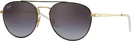Ray Ban Kadın Güneş Gözlükleri 0RB 3589 90548G 55, GOLD TOP ON BLACK\GREYGRADIENTDARKGREY,