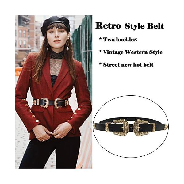 Western Vintage Style Genuine Leather Belt 2