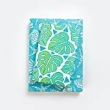 Monstera Leaf Jungle/Tropical Beach Shells Wrapping Paper (3-Sheets) - Double-Sided & Eco-Friendly Gift Wrap