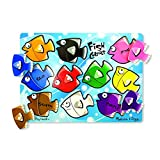 Melissa & Doug Fish Colors Mix n Match Peg Puzzle