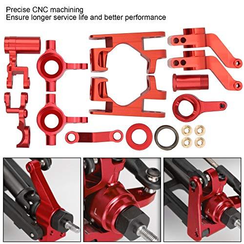 Alomejor RC-Achsschenkel Aluminiumlegierung Vordere C-Nabe Träger Achsschenkel RC-Modell Vorderradnaben Teile Zubehör für Traxxas 1/10 4X4 Slash Truck(rot)