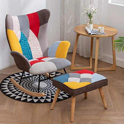 Whp Leisure reading chair Rocking chair Bedroom living room patio Nap lounge chair Backrest armchair Recliner Deck chair Dining chair Business reception chair