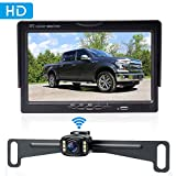 Amtifo Wireless Bakcup Camera System with 7'' Monitor for Cars,SUVs,MiniVans,HD...