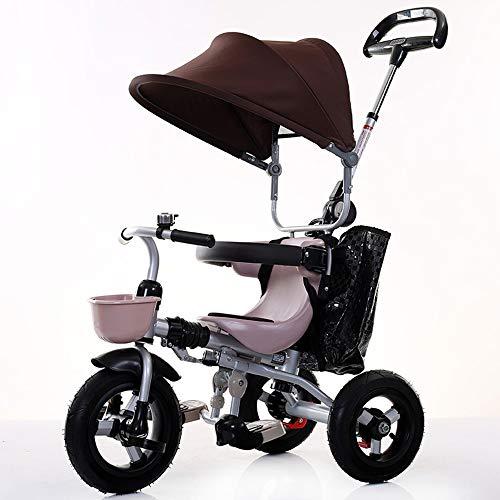 YumEIGE driewieler titanium leeg wiel, standaard kinderwagen materiaal van koolstofstaal/stretch katoen, 25 kg belasting aanbevolen hoogte 31,4 inch tot 47,2 inch