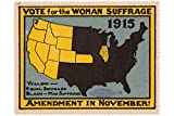 ZMKDLL 1915 Womens Rights Poster Vote for The Woman Suffrage Metal Sign 12'x8'