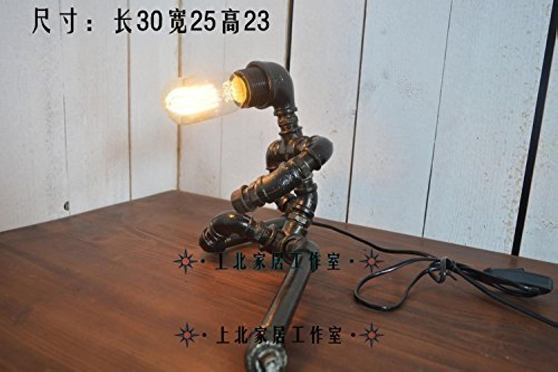 Table Lamps Home Tischlampe-Dimmerschalter beleuchtet Retro-Wasserbar-Kaffee-Hotelshop-Tischroboter-Pfeifenlampe Retro-Wasserbar-Kaffee-Hotelshop-Tischroboter-Pfeifenlampe Retro-Wasserbar-Kaffee-Hotelshop-Tischroboter-Pfeifenlampe der Persönlichkeit B07PDDDB24     | Online Outlet Store  b828d9
