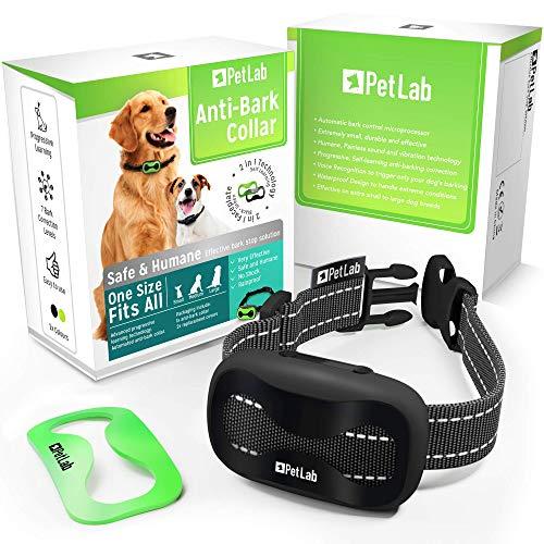 Collar Antiladridos para Perros Pequeños y Grandes Dispositivo Antiladridos Perros Collar Adiestramiento Anti Ladrido para Perro Anti Bark Collar