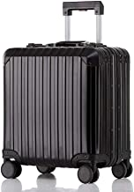 BFZJ suitcases Carry-On Luggage with 360° Spinner Wheels Hardshell Lightweight Suitcase with Password Lock Durable Trolley Case Boarding The Chassis for Men and Women (Color : Black, Size : 18'')