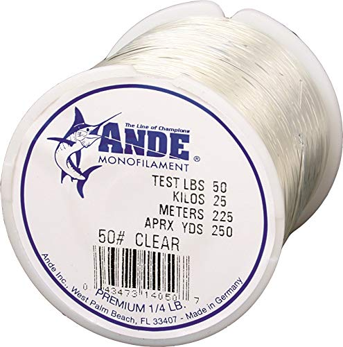 Ande Monofilament Line (Clear, 50 -Pounds Test, 1/4# Spool)