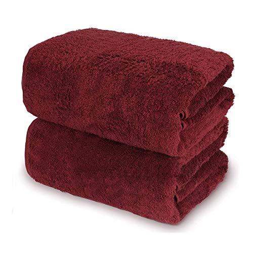 OEIGCI Toalla de baño Grande, 100% algodón, 2 Piezas de sábana de baño de Hotel de Lujo, Toallas Suaves Altamente absorbentes, Uso Diario, 35 x 70 Pulgadas (A)