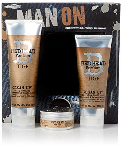 Tigi Limited Edition Männer Pflegeset Clean Up Shampoo + Conditioner + Matte Separation Stylingcreme (250 ml+200 ml+85 g)