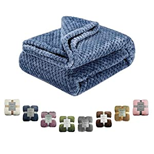Msicyness Dog Blanket, Premium Fleece Fluffy Throw Blankets Soft and Warm Covers for Pets Dogs Cats(X Large Blue)