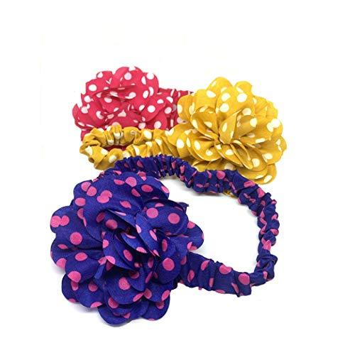 takestop® hoofdband voor meisjes, 2 stuks, bloemen, voor pasgeborenen, elastisch, van stof, cadeau-idee voor meisjes en jongens