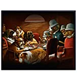 Dogs Playing Poker Vintage Art Print - Rustic Wall Art Poster - Shabby Chic Home Decor for Living Room, Bedroom, Game Room, Man Cave, Office, Den - Gift for Card and Vegas Fans - 8x10 Photo- Unframed