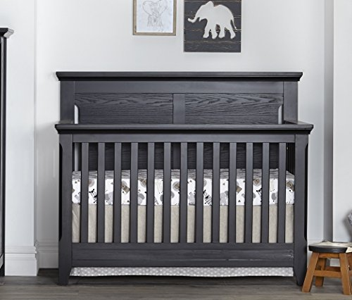 Baby Cache Overland 4 in 1 Convertible Crib in a Classic Heritage Black Finish