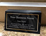 Custom Premium Business Cards 500 pcs- Black Ocean Wave-16pt cover (129 lbs. 350gsm-Thick paper)