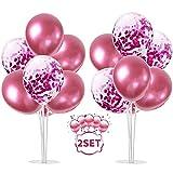 Balloon - Soporte de mesa transparente,Globos Claros Soporte Holder con 13...