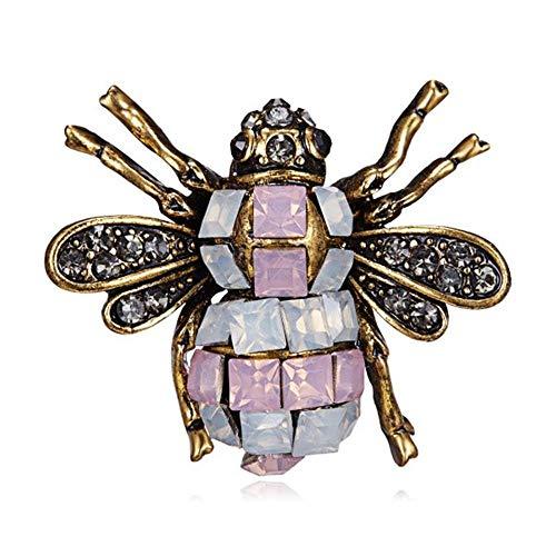 Little Bee Brooches Crystal Rhinestone Pin Brooch Enamel Brooch Jewelry Gifts for Women Men Insect Brooch-4