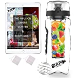 gulp Fruit Infuser Water Bottle 1 Litre, Tritan Unit with Infusion Rod, 235