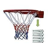 Canasta Baloncesto Pared Soporte clavada sólida, Puede Llegar a Pesar 300 Kg estándar del aro de Baloncesto, Adulto Primavera del aro, diámetro Exterior estándar Interno Rack de Baloncesto