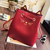 GFF Sailor Moon Bolso de Mano Samantha Luna Style Cat Bolsos de Mano para Mujer Kitty Cat Bag Mujer Messenger Crossbody Tote Bag, Rojo