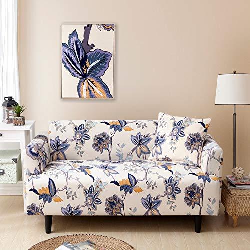ASCV Fundas de sofá con Estampado de Flores para Sala de Estar Funda elástica elástica Fundas de sofá de Esquina seccionales A8 1 Plaza