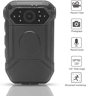 HD 1296P Police Camera, Moocor Wide Angle Body Worn Cameras with 32G Memory Card, Security Motion Detection DVR for Law Enforcement