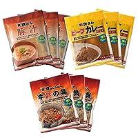 【資さんストア】ビーフカレー/牛丼の具/豚汁(各3袋)【資さんうどん】