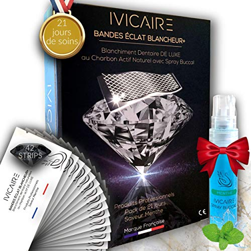 IVICAIRE® Kit Luxe 42 Bandes Blanchiment Dentaire...