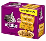 whiskas 1571260031 - Comida para Gatos Sabor Aves 12 bolsitas de 85 gr