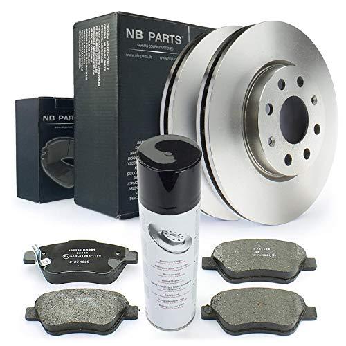 Bremsen/Bremsscheiben + Bremsbeläge vorne + Bremsenreiniger NB PARTS GERMANY 10046481