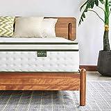 Inofia Sleep Colchón doble pequeño de 25 cm, colchón híbrido de muelles interiores en una caja, colchón de apoyo con 9...
