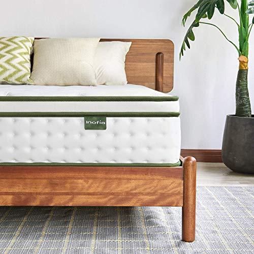 Inofia Sleep 5FT koning matras, 25cm hybride binnenveer matras in een doos, 9 gezoned ondersteuning matras geeft geavanceerde drukpunt verlichting, de HOPE collectie (King(150x200x25cm))