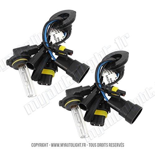 2 ampoules HIR2 9012-6000K - 35W de rechange pour Kit Xénon HID